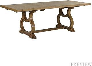 madison large trestle desk white