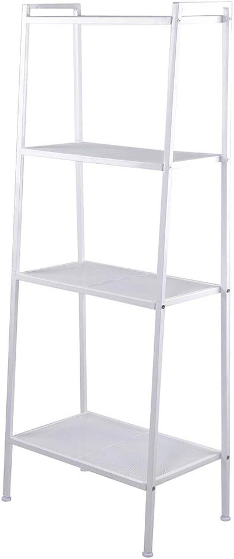 AMPERSAND SHOPS Bookcase Ladder Shelf Organizer (White)