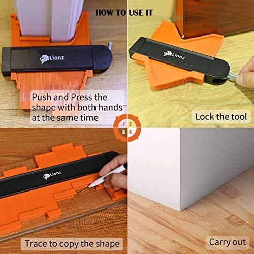 Contour Gauge With lock Set - Contour Gauge Profile Tool - Wide 10