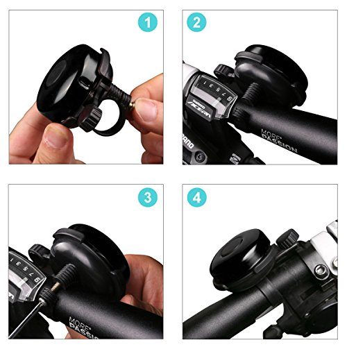 AD Bicycle Bell - Aluminum Bike Bell Ring - Classic Bicycle Bell for Adults Men Women Kids Girls Boys Bikes - Mountain Bike Accessories