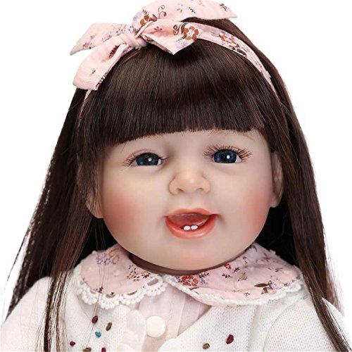 Silikon wiedergeboren Puppen Zwillinge realistische Hobbys Handmade Baby Puppe Neugeborenen für junge & Girls Spielzeug Early Education Dolls, 22 inch Girl Urlaub Hochzeit Verringerung Angst helfen Autismus schwangere Frauen