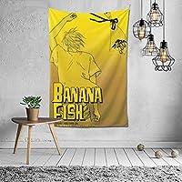 タペストリー Banana Fish 壁掛け おしゃれ 大判 インテリア ウォールアート 壁の装飾 癒し モダン 間仕切り 暖簾 多機能 新居装飾プレゼント お店 デコレーション カーテン 壁掛けブランケット 150*100cm 縦長