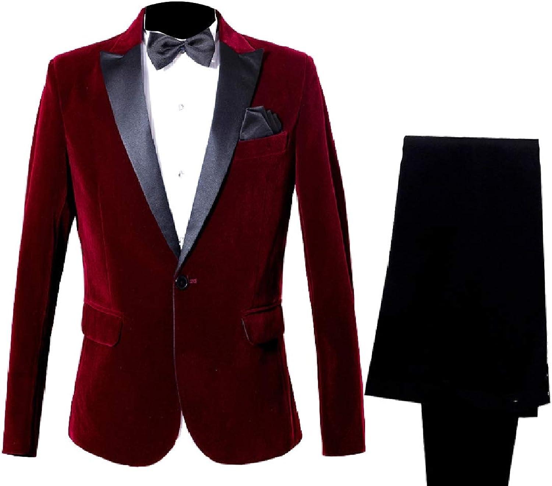 Freely Men's Premium Business 2pcs Set Plus Size Tailored Coats Suit