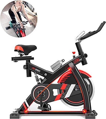 JXH Spinning Bike Ultra Quiet Home Heimtrainer Abnehmen Pedal Sport Bike, 8KG Edelstahl-Schwungrad Herzfrequenz-Test Funktion Calorie Tabelle Stoßdämpfung Schutzfunktion