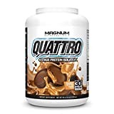 Magnum Nutraceuticals Quattro Protein Powder - 4lbs - Peanut Butter Cups - Protein Isolate - Lean Muscle Creator - Metabolic Optimize
