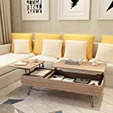 Mecor Lift Top Coffee Table with Hidden Compartment Modern Coffee Table for Living Room,Reception Room