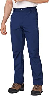 Men's Softshell Pants Fleece Lined Insulated Waterproof Winter Trousers for Outdoor Hiking Ski Snow Hunting
