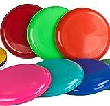 SchwabMarken 10 Frisbee Disc/frisbees/disques à Lancer de Couleurs Mixtes - ne Convient Pas comme Frisbee pour Chien !