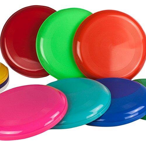 SchwabMarken 5 Frisbee Disc/Frisbees/Disco Volador en Colores Mezclados; ¡No Son Aptos como frisbees para Perros!