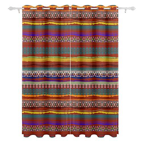 Mnsruu - Cortina Opaca con Ojales térmicos para decoración del hogar, salón, Dormitorio, 140 x 213 cm, 2 Paneles