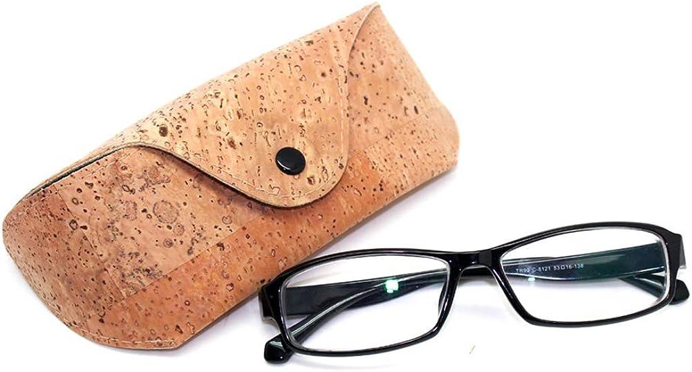 Boshiho Natural Cork Sunglasses Case Eyeglass Holder Box Vegan Gift