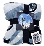 Licensed_Primark - Manta de forro polar muy suave, color gris y negro