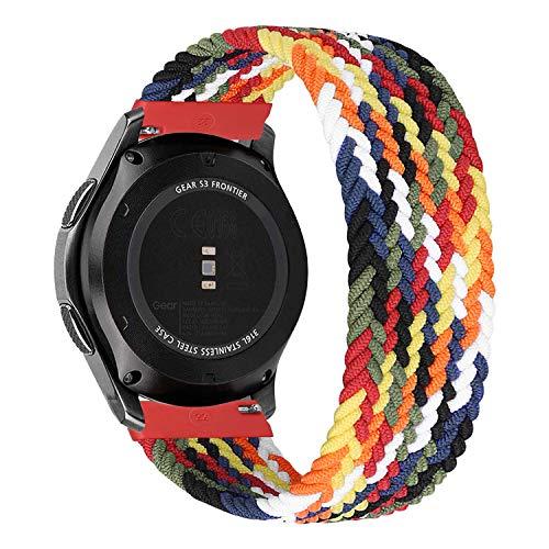 MroTech Compatible con Huawei Watch GT 2 46 mm/GT 2e/GT2 Pro Correa Nailon 22mm Pulseras Repuesto para Samsung Galaxy Watch 3 45mm/Gear S3 Frontier/Galaxy 46mm Banda Nylon Woven Sport Loop-Vistoso/L