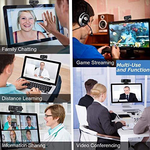 GUUKIN 1080P Webcam mit Mikrofon, Sichtschutz, Stativ, Full HD Autofokus Webkamera für Konferenzen, Videoanrufe, Spielen, Aufnahme und Streaming