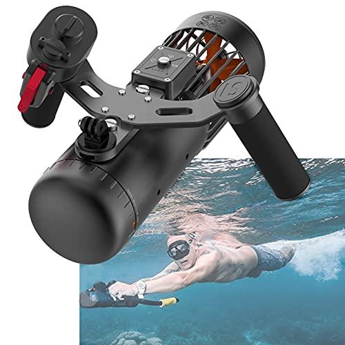 Patinete Subacuático Con Montaje Para Cámara De Acción Sea Scooter 40M Seguridad Impermeable 3 Niveles De Velocidad Tabla De Surf Eléctrica Recargable Para Aventuras De Esnórquel Y Persecución De Pece