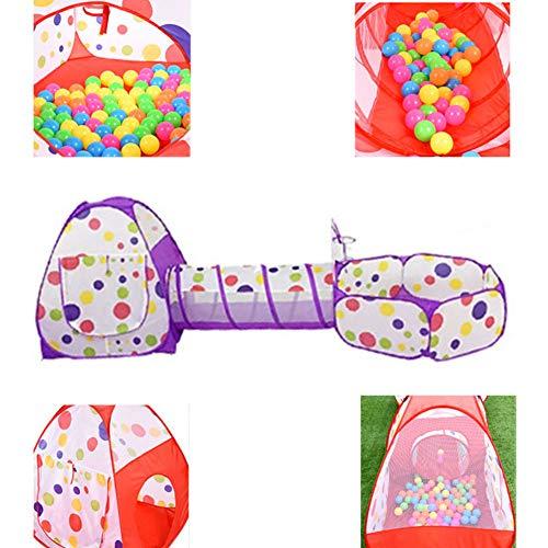 De Kinderen Spelen Tent Ballenbak Pop-Up Baby's Vouwen Theater Tunnel Set Kinderen Jongen Meisjesbaby Binnen Buiten Kasteel Schat Tent,Purple