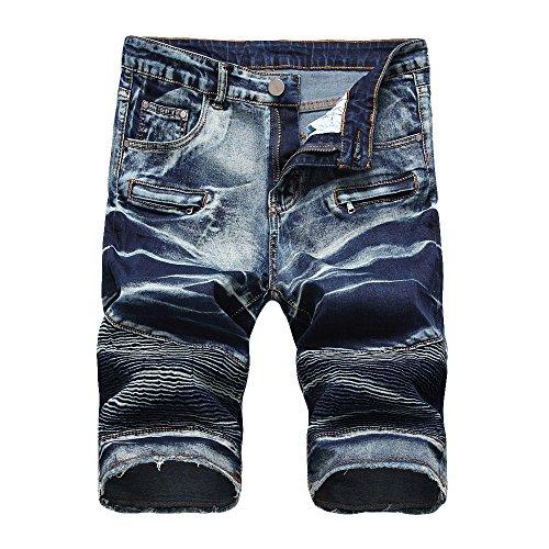 CIELLTE Shorts Damen Jeanshose Silber silber one size Gr. W28, B-bleu Foncé