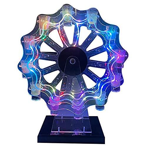 cakunmik Soporte de Vidrio Luminoso de Cristal LED Que Puede sostener 12 Copas de Vino Inicio Bar Cocina Restaurante Decoración de Escritorio