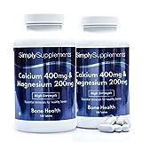 Calcio 400 mg e Magnesio 200 mg - 360 compresse - Adatto ai vegani - 6 mesi...