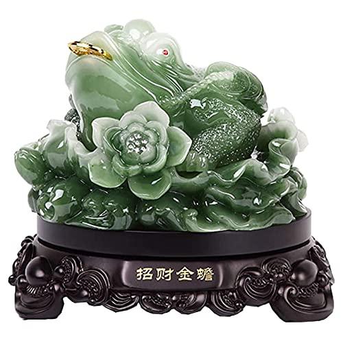 JY&WIN Lucky Feng Shui Money Lucky Fortune Wealth Moneda de Sapo de Rana China Decoración de Oficina en el hogar Adornos de Mesa Good Lucky Gifts, Pequeño