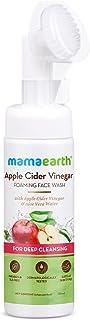 Mamaearth Apple Cider Vinegar Foaming Face Wash with Apple Cider Vinegar & Aloe Vera Water, ACV Foaming Face Wash with Bru...