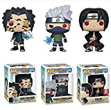 3 Unids / Set Naruto Pop Figura De ViniloHatakeKakashiSasukeCurse Mark UchihaItachiColección Muñeca 10 Cm Modelo De Juguetes