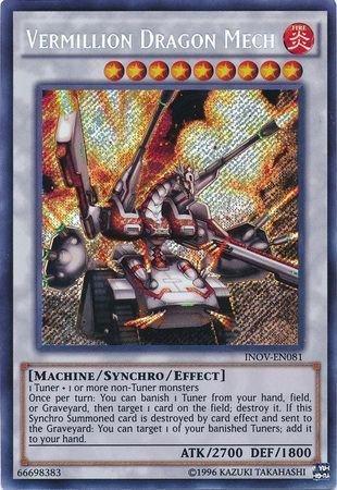 Yu-Gi-Oh! - Vermillion Dragon Mech (INOV-EN081) - Invasion: Vengeance - Unlimited Edition - Secret Rare