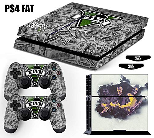 Skin PS4 Fat GTA 5 Grand Theft Auto V - Dólares