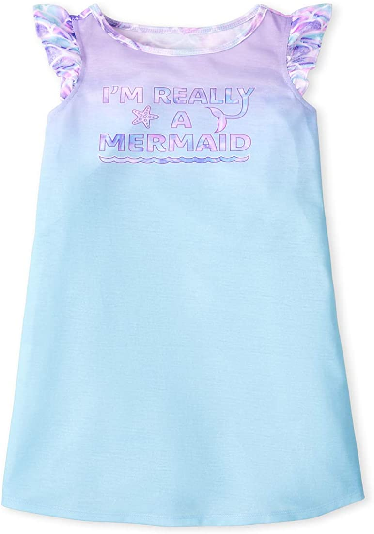 The Children's Place Baby Girls Mermaid Nightgown