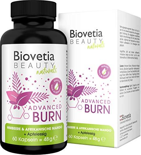 Biovetia Advanced Burn Fatburner Kapseln, natürliche Diät Formel für schnelles Abnehmen und Stoffwechsel beschleunigen, 60 Kapseln