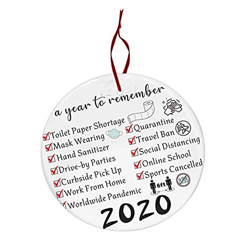 Remembering 2020 Ornament Year of Quarantine Ornament 2020 Christmas Ornament 2020 Commemorative Funny Ornament 2020 Events – A Year to Remember