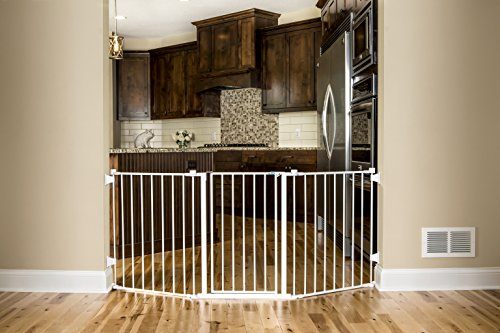Regalo 76 Inch Super Wide Configurable Baby Gate, Includes 4 Pack of Wall Mounts and Hardware