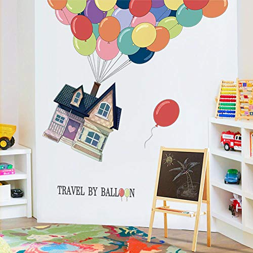 Grote muur Stickers Verhuur Kamer Renovatie Behang Cartoon Ballon Slaapkamer Muurdecoratie Stickers