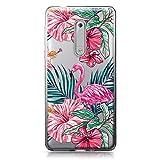 CASEiLIKE Nokia 5 Hülle, Nokia 5 TPU Schutzhülle Tasche Case Cover, Tropischer Flamingo 2239, Kratzfest Weich Flexibel Silikon für Nokia 5