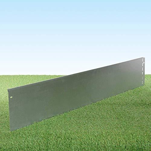 GartenAZ Rasenkante aus Metall - 7160 - Stahlblech feuerverzinkt, silberfarbig - 103, x 20 cm, Nutzlänge 5 m