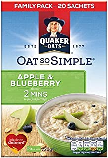 Quaker Oat So Simple Family Pack Apple & Blueberry - 20 x 36g (1.59lbs)