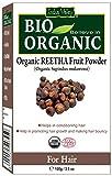 Polvo certificado orgánico puro de la fruta de Reetha (nuez del jabón) con el libro libre de la receta 100g (Reetha Fruit Powder)