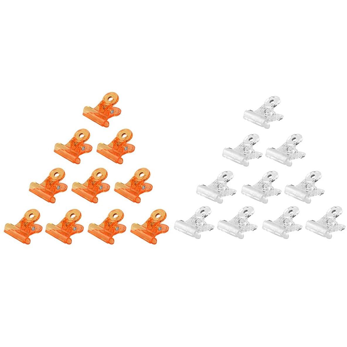 目指すイーウェル魅了するT TOOYFUL ネイルポリッシュ リムーバークリップ アクリル ネイルクリップ ネイルケアツール 全3種 - オレンジ+クリア