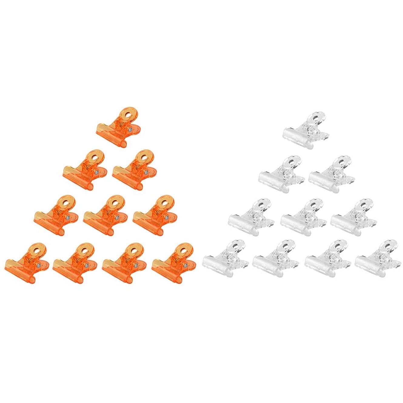 どうやって勝つドラッグT TOOYFUL ネイルポリッシュ リムーバークリップ アクリル ネイルクリップ ネイルケアツール 全3種 - オレンジ+クリア