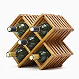 Componente de muebles Cesta para botellas de vino en encimera de ratán Estante para vinos Soporte para botellas Estante de exhibición de almacenamiento horizontal de mesa Colección de diseño compac