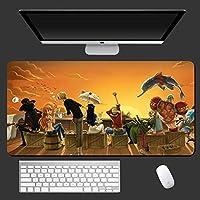 ワンピースアニメマウスパッド大型ゲーミングマウスパッドデスクパッドキーボードマット、ステッチエッジ付き、仕事とゲーム、オフィスと家庭用900X400X3MM-A_800X300X3MM