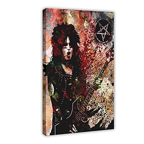 Banda de metal pesado guitarrista Kirk Lee Hammet 1 póster de lona vintage para decoración de dormitorio, paisaje, oficina, decoración de habitación, marco de regalo de 60 x 90 cm