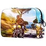 Beauty Case da viaggio Una motocicletta in corsa Valigetta per Cosmetici Borsa Organizzatore Lavabile da Viaggio per Truccatrici con Settori 18.5x7.5x13cm