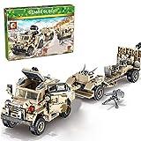 12che 464 Pz Auto Militare Trattore obice Costruzioni Giocattolo Veicolo dell'Esercito Militare Camion con Minifigure, Armi compatibili con Lego Minifigures, Lego City