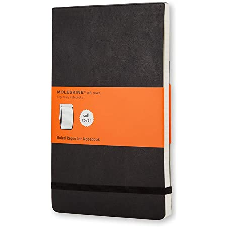 """Moleskine Classic Notebook, Soft Cover, Pocket (3.5"""" x 5.5"""") Ruled/Lined, Black, 192 Pages"""