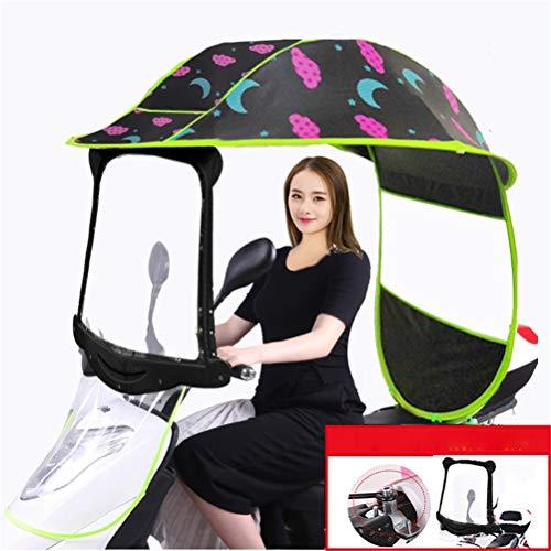 GFYWZ Fahrrad Elektrischer Sonnenschutz Regenschutz, Universalauto Motorroller Regenschirm Mobilität Sun Wasserdichter Regenschirm,2,A