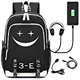 YOYOSHome Luminous Anime Assassination Classroom Cosplay Daypack Laptop Bag Backpack School Bag with USB Charging Port