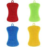 N/A - Esponjas de Silicona antibacterianas Multicolor para Cocina, de Silicona, para Lavar Platos, fregaderos, ollas, Verduras, Frutas