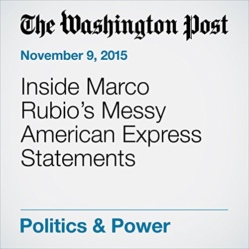 Inside Marco Rubio's Messy American Express Statements audiobook cover art