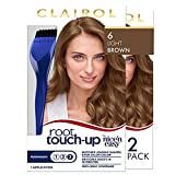 Clairol Root Touch-Up by Nice'n Easy Permanent Hair Dye, 6 Light Brown Hair Color, 2 Count